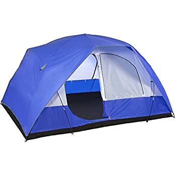 Best Choice Products 5-Person Weather Resistant Dome Camping Tent w/Carrying Bag - Blue