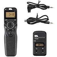 PIXEL T9-S1/S2 LCD 2.4GHz Wired or Wireless Timer Remote Control for Sony A500, A550, A850, A900,A3000,A6000, HX300, RX100II