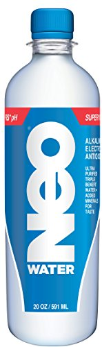 Neo Super Water, Alkaline, Electrolytes and Antioxidants, 20 Ounce (Pack of ()