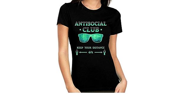 Camisa de distancia social para mujer – Camiseta de ...