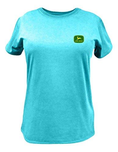 John Deere Womens Short Sleeve Quality Farm Equipment T-Shirt-medium (Quality Farm Equipment)