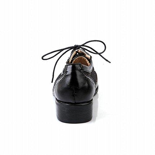 Charme Pied Mode Dentelle Femmes Bas Talon Oxfords Chaussures Brogue Noir