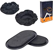 MEW 2 Pack Exercise Sliders Discs, Dual Sided Oval Shape, Exercise Equipment for Home, Travel, Perfect for Abd