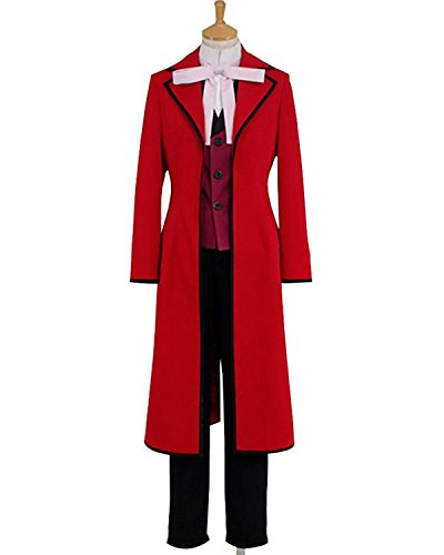 UU-Style Black Butler Ciel Phantomhive Red Coat Vest Suit Cosplay Costume (Colonial Girl Costumes Virginia)