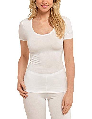 Schiesser Damen Unterhemd Personal Fit Shirt 1/2 Arm, Beige (Naturweiss 412), 38 (Herstellergröße: M)