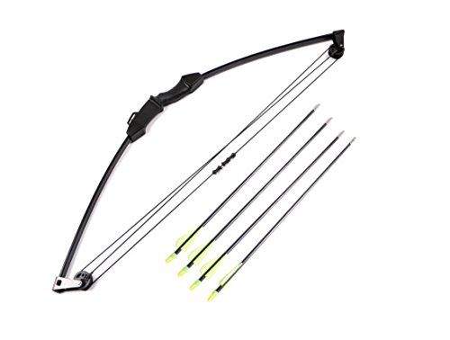 "FlyArchery 35"" Kid Compound Bow and Arrow Archery Set With 4 Arrows For Youth Junior Kid Children Hunting Toy"