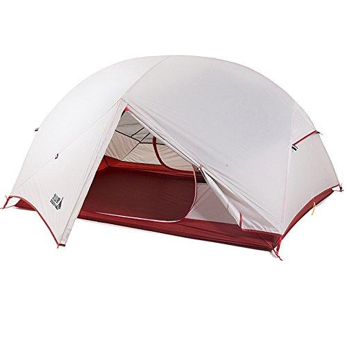 放牧するどのくらいの頻度で無視する2人用二重層キャンプ テント 超軽量 4シーズンに適用 アウトドア登山テント 防雨 防風 防災