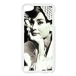 2015 customized AUDREY HEPBURN Customized Case for Ipod Touch 5, New Printed AUDREY HEPBURN Case
