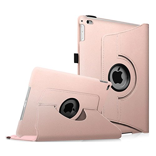 Fintie iPad Air 2 Case (2014 Release) - 360 Degree Rotating Stand Protective Case Smart Cover with Auto Sleep/Wake Feature for Apple iPad Air 2, Rose Gold