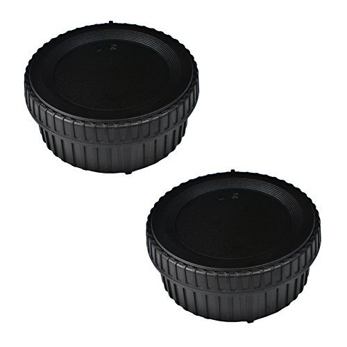 (2 Pack) VKO Body Cap & Rear Lens Cap Replacement for Nikon D5600 D5500 D500 D5 D750 D700 D850 D7500 D7200 D7100 D610 D3500 D3400 D3300 D3200 D5200 D5300 Camera Body & F Mount Lens Replaces LF-4 BF-1B