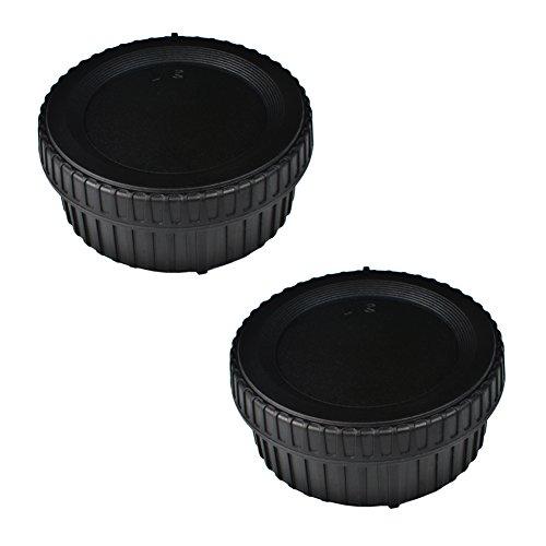 (2 Pack) VKO Body Cap & Rear Lens Cap Replacement for Nikon D5600 D5500 D500 D5 D750 D700 D850 D7500 D7200 D7100 D610 D3500 D3400 D3300 D3200 D5200 D5300 Camera - Cap Nikon Lens Rear