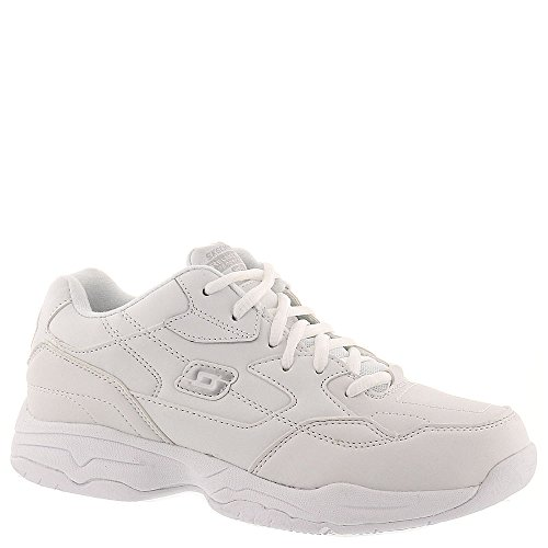 Skechers Work Women's Felton Albie White Leather Sneaker 7.5 D - ()