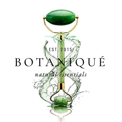 The Original Botaniqué Anti Aging Jade Roller||100% All-Natural Facial Massager Roller for Healing, Facial Slimming, Wrinkles||Face Neck Body Eyes||Rejuvenates Skin Clears Toxins Reduces Puffiness by Bontaniqué Essentials