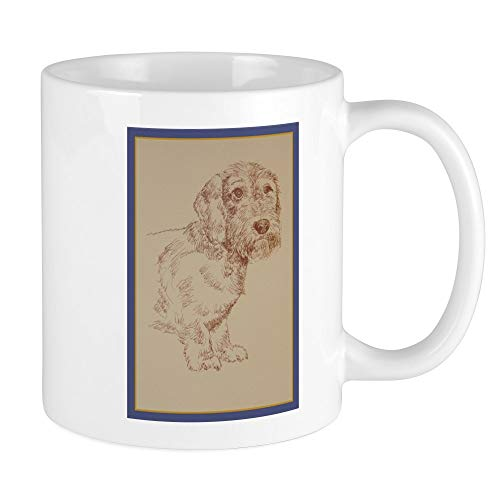 CafePress Wirehaired Dachshund Dog Art Mug Unique Coffee Mug, Coffee Cup
