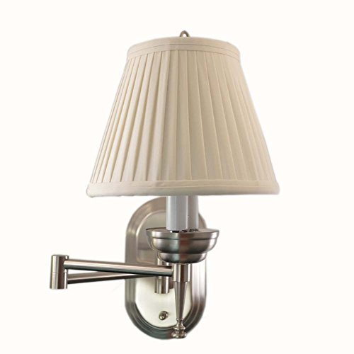 (LED4RV 12 Volt Brushed Nickel Wall Sconce with Anna Rayon)