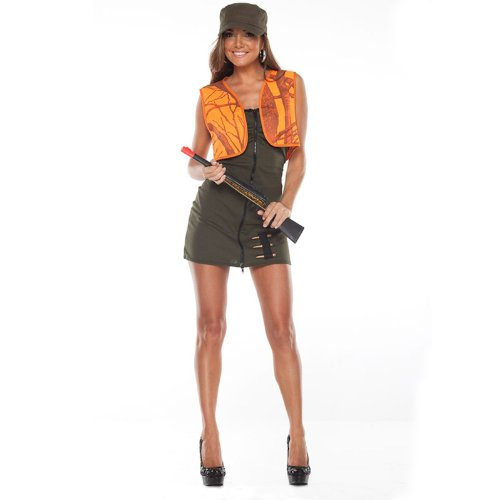 Women's Man Hunter Costume (Medium / Large) -