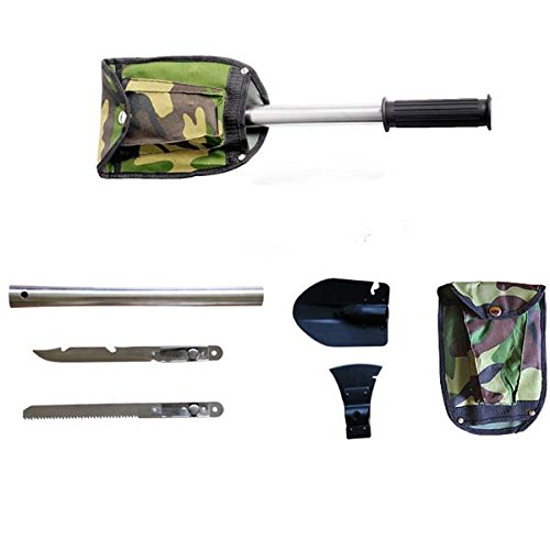 LOOYUAN Cool Ultimate Survival Knife Shovel Axe Emergency Camping Hiking Gear Kit Tools