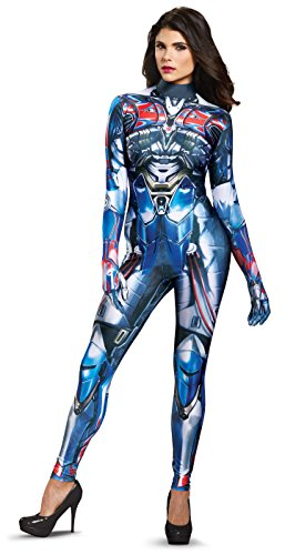 Disguise Women's Optimus Prime Movie Female Bodysuit Costume, Blue, Large