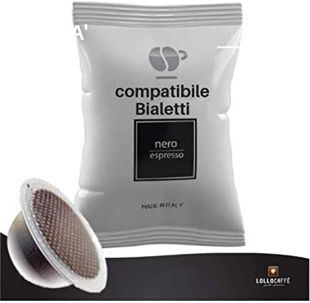 100 capsule caffè Lollo Caffè compatibili Bialetti