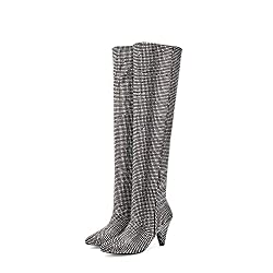 Over The Knee Rhinestone High Heels Boots