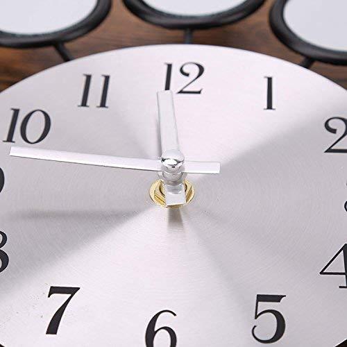 Hqysjin Relojes de Pared con Pilas, Dormitorio Solar, Campanas, ación