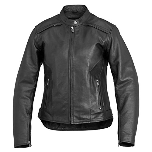 River Road Women's Savannah Cool Leather Jacket - Large/Black