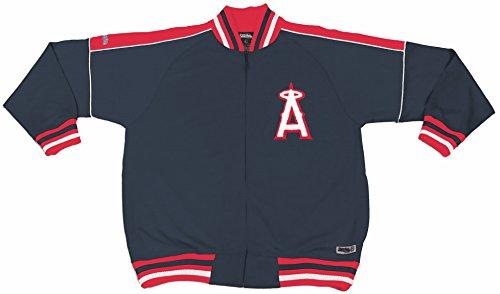 Angel Track Jacket (MLB Los Angeles Angels Contrast Shoulder Track Jacket, Navy, X-Large)