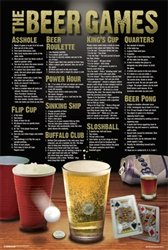 Beer Games College Frat Drinking Alcohol Poster