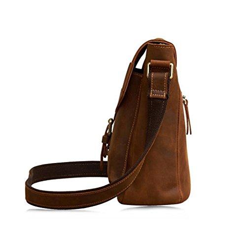Messenger D'affari Borsa 1 Tipo Tracolla viaggio Sucastle Uomo Vintage 5cm Pelle Spalla 21x9x25 In A Bag università 7zx71wa
