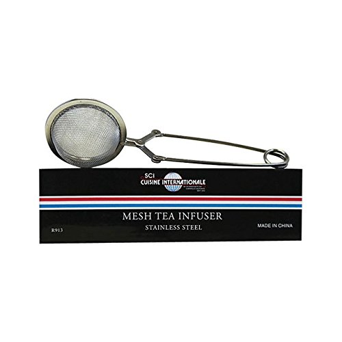 HIC Mesh Snap Ball Loose Leaf Tea Infuser, 18/8 Stainless Steel, 6-Inches x 1.5-Inches