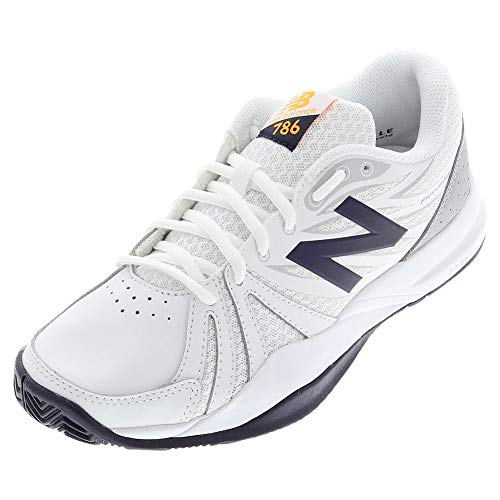 New Balance Women's 786v2 Tennis Shoe, White/Blue, 8 D US