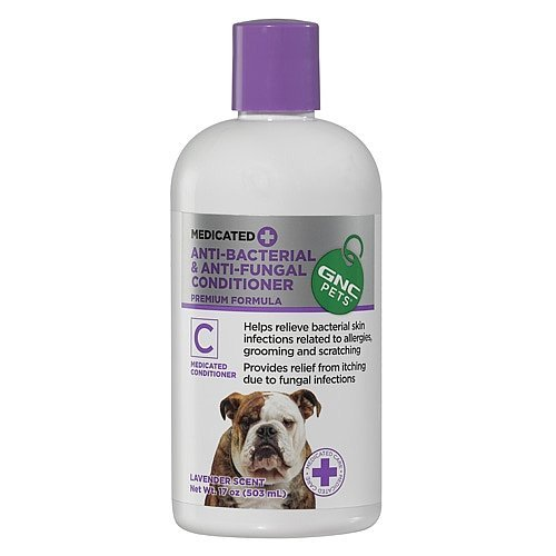 GNC Pets Medicated Anti-Bacterial Anti-Fungal Conditioner, Lavender Scent -