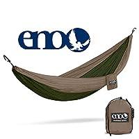 ENO - Hamaca DoubleNest de Outletters de Eagles Nest, hamaca portátil para dos, color caqui /verde oliva