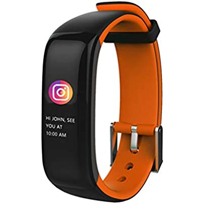 HFXLH Smart Wristband Color Heart Rate Blood Pressure Monitor IP67 Waterproof Fitness Bracelet sport tracker band Estimated Price £49.40 -