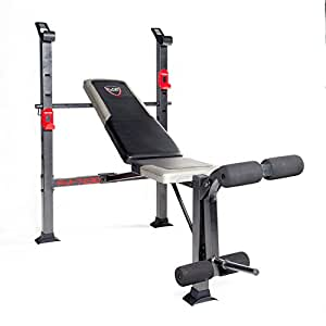 Amazon Com Cap Barbell Standard Bench Black Red Weight