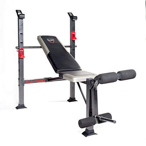 CAP Barbell FM-7230 Standard Bench, Black/Red