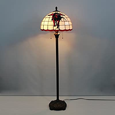 16-inch NCAA Texas Tech Red Raiders Stained Glass Floor Lamp