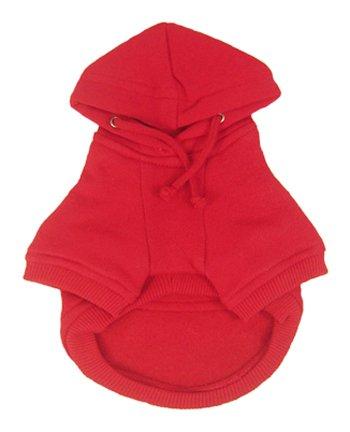 Platinum Pets Dog Sweatshirt Hoodie Dog Coat, Medium, Red, My Pet Supplies