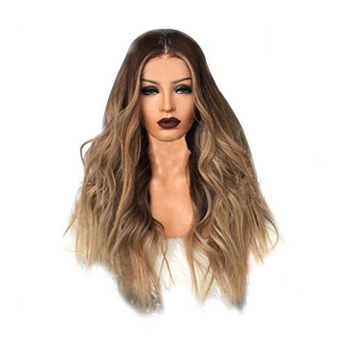 RoseSummer Nature Human Long Hair Wigs Brown Loose Wave Wigs by RoseSummer