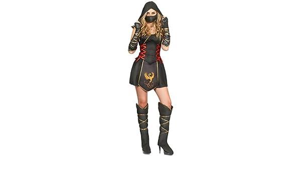 Vegaoo - Disfraz Ninja para Mujer guerrera - L: Amazon.es ...