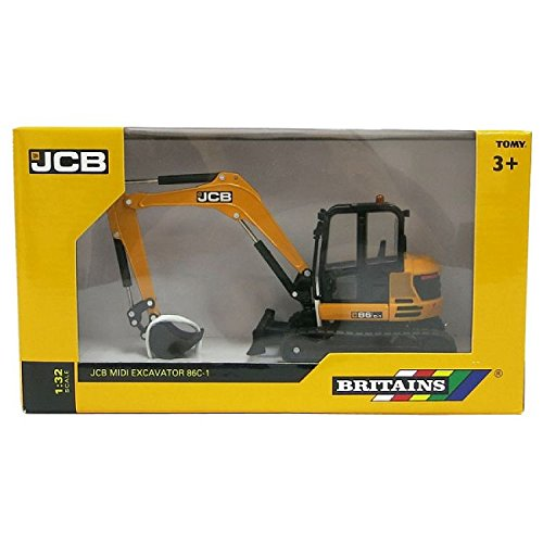- Britains 1:32 JCB Midi Excavator  Collectable Farm Vehicle Toy  Suitable from 3 Years