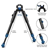 BESTSIGHT Clamp-on 6-9 inch Bipod for Rifles Round