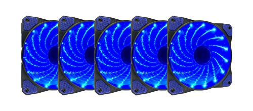 Ventilador APEVIA AF512L-SBL 120mm Blue LED Ultra Silent Cas