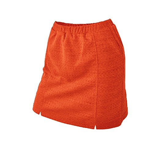 - Monterey Club Ladies Dry Swing Notched Detail Texture Solid Pull-on Knit Skort #2927 (Coral Orange, 2X-Large)