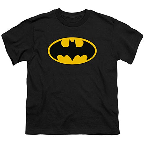 Batman Classic Logo Youth T Shirt (X-Large) Black