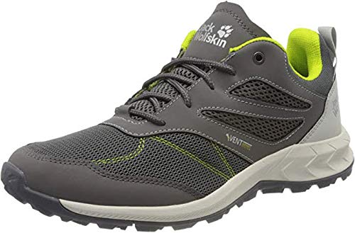 Jack Wolfskin Woodland Vent Low M Cross Trainers, gris / lima, 13.5