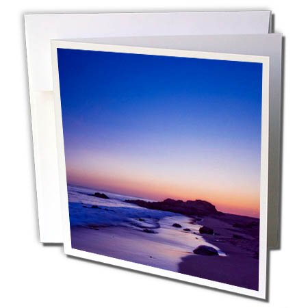 3dRose Boehm Graphics Travel - Reef Point at Twilight in Crystal Cove State Park - 6 Greeting Cards with Envelopes (gc_282398_1)