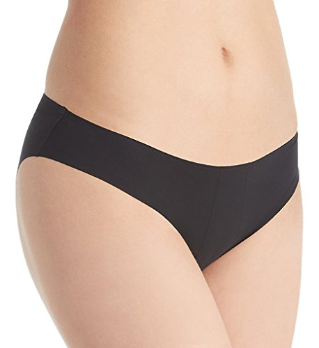 La Perla Update Laser Cut Bikini Brief Panty (6100) M/Black (La Perla Nylon Briefs)