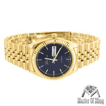Mens 14k Gold Geneve Watch - 2