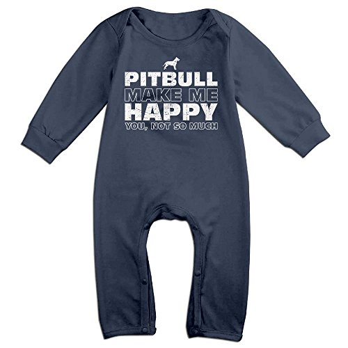 Spanish National Costume (Infants Pitbull Long Sleeve Bodysuit Baby Onesie Baby Climbing Clothes Romper For 0-24 Months Navy 24 Months)